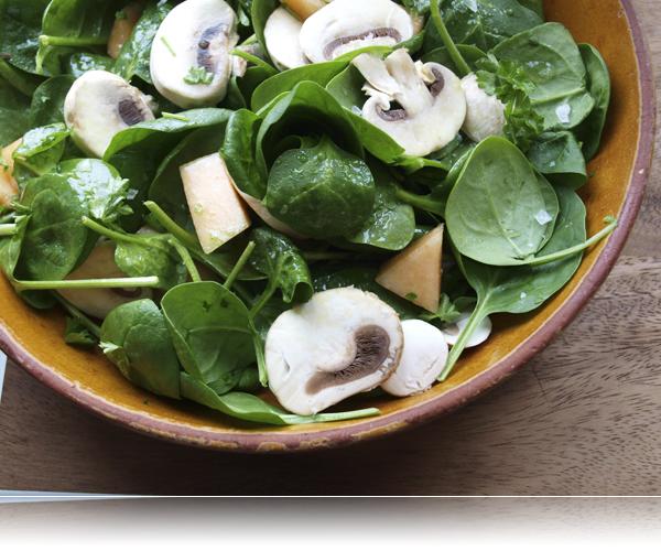 Spinat salat...