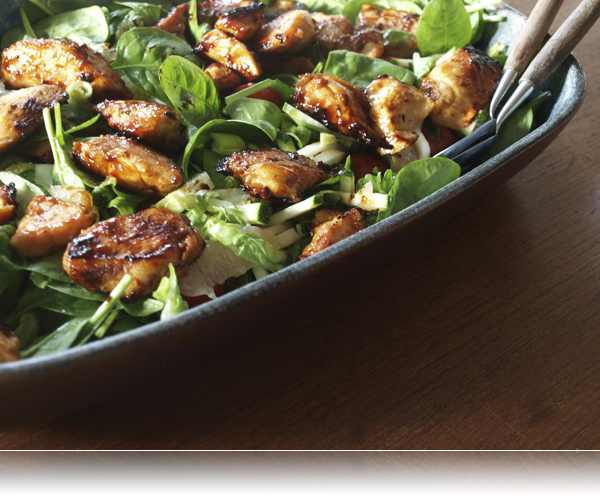 Salat med kylling og grape...