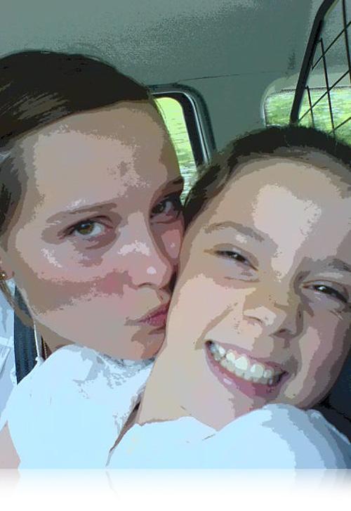 Sophie og Amanda…