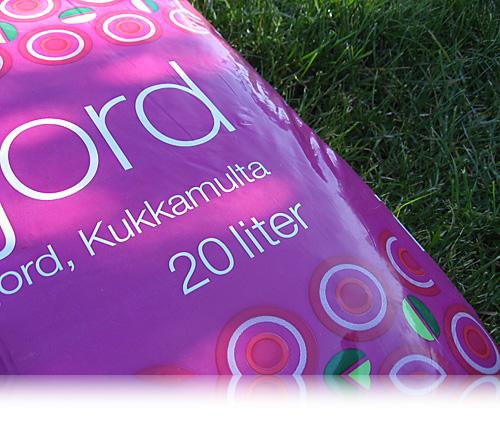 Pottemuld på finsk…