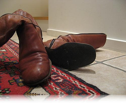 Trætte støvler…