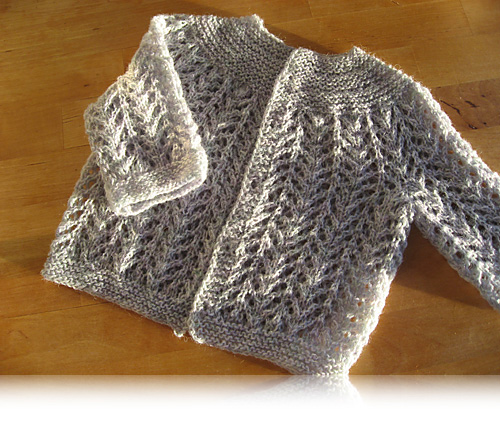 EZ's february baby sweater…