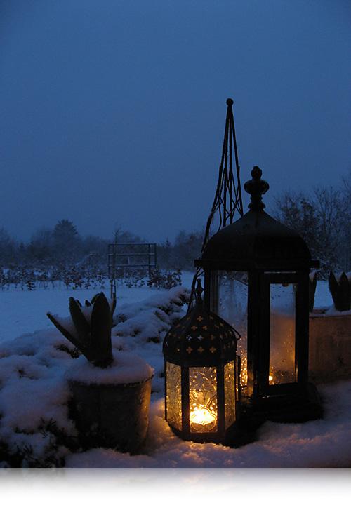 Lys og sne…