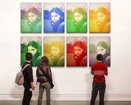Amanda på udstilling…